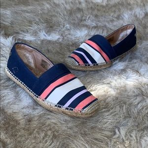 UGG BLUE RENEDA STRIPES SLIP ON ESPADRILLES BNWOT